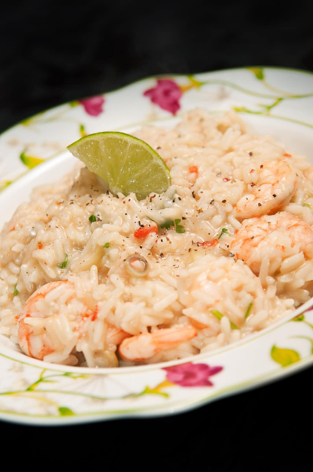 rice with shrimp and milk coconut